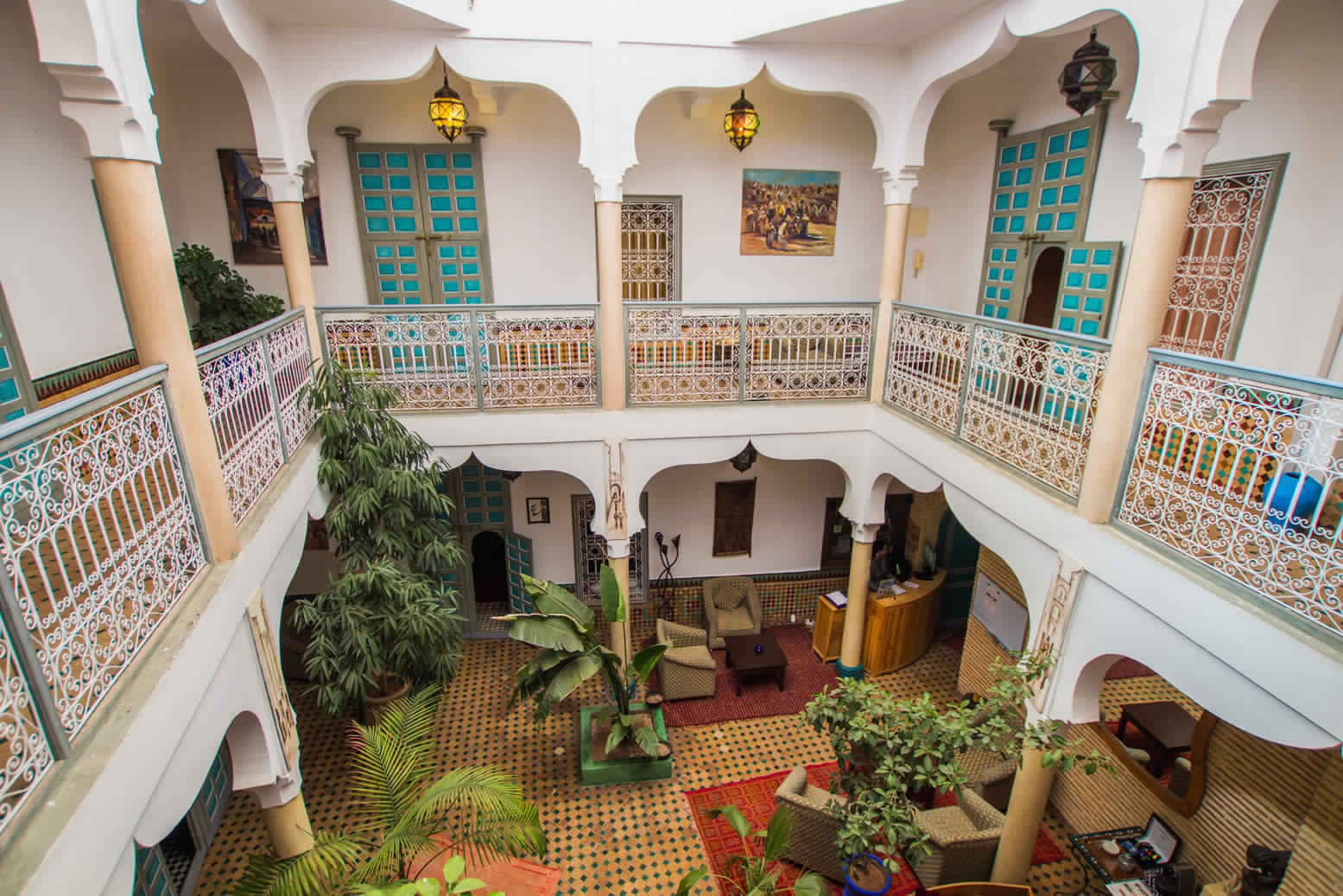 The moroccan riad fes marrakesh ouarzazate private for Moroccan house plans